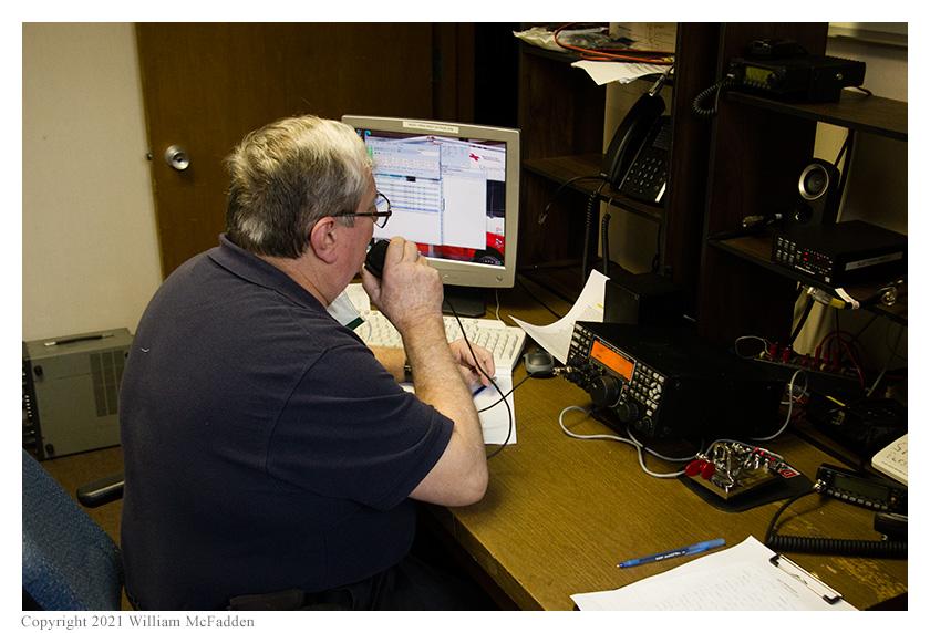 Jeff Slattery, N8SUZ, operates SSB on 40m